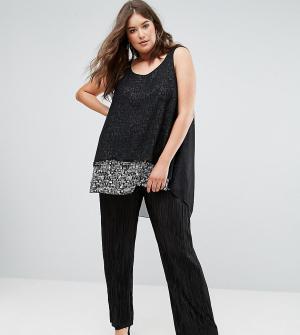 Koko Плиссированные брюки-палаццо. Цвет: черный