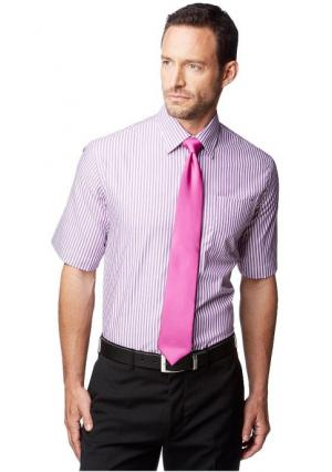 Рубашка с короткими рукавами STUDIO COLETTI. Цвет: темно-серый в полоску