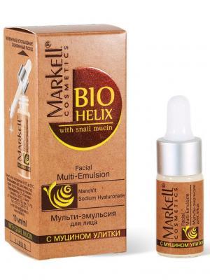 Bio-helix Мульти-эмульсия для лица, 10 мл. Markell. Цвет: прозрачный