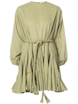 Платье с расклешенной юбкой Rhode Resort. Цвет: зелёный
