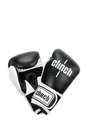 Перчатки боксерские Clinch. Цвет: черно-белый