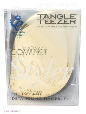 Расческа с крышкой Компакт Стайлер золотая Tangle Teezer. Цвет: золотистый