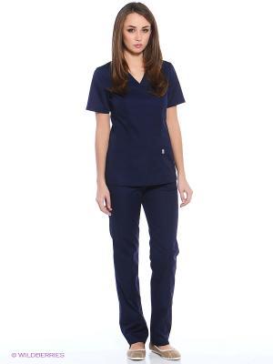 Блузка медицинская Med Fashion Lab. Цвет: темно-синий