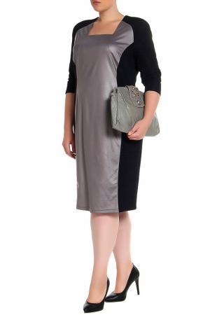 Платье EVA Collection. Цвет: серебристо-синий