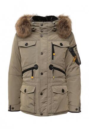 Куртка утепленная Vizani. Цвет: бежевый