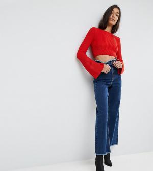 ASOS Tall Широкие джинсы. Цвет: синий