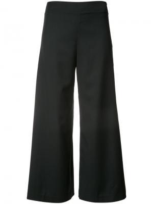 Укороченные широкие брюки Adam Lippes. Цвет: синий