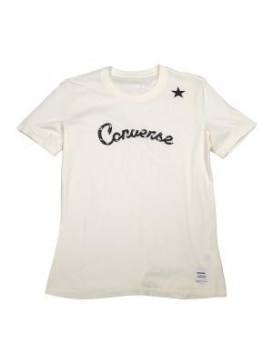 Футболка Converse Essentials Star Graphic Tee. Цвет: бежевый