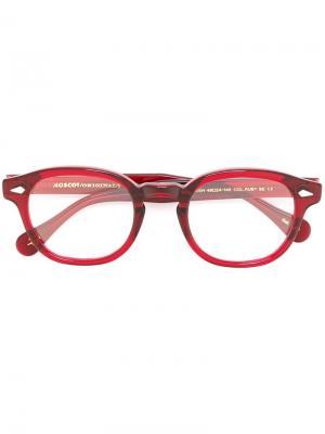 Очки Lemtosh Moscot. Цвет: красный