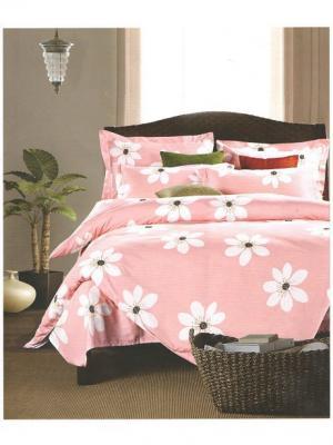 Комплект постельного белья ROMEO AND JULIET. Цвет: розовый, белый
