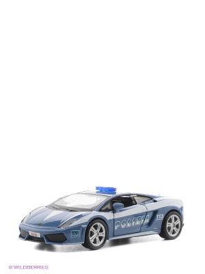 1:32 BB Машина Lamborghini Gallardo LP560 ПОЛИЦИЯ металл. Bburago. Цвет: голубой