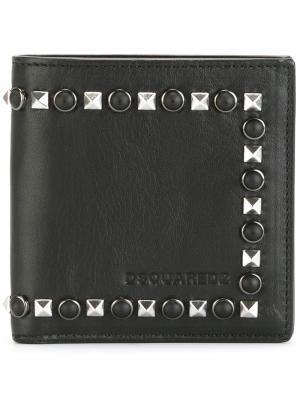 Бумажник с заклепками Dsquared2. Цвет: чёрный