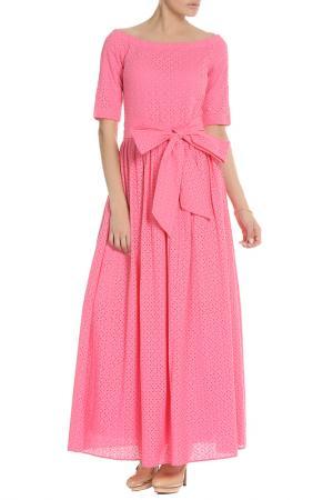 Платье с открытыми плечами NATALIA PICARIELLO. Цвет: розовый