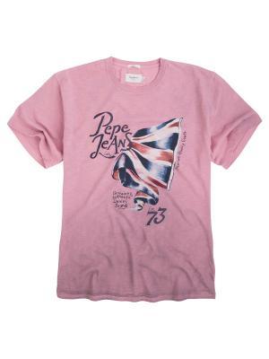 Футболка PEPE JEANS LONDON. Цвет: бледно-розовый
