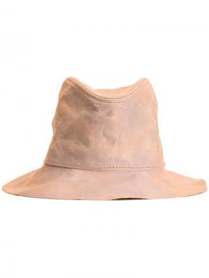 Кожаная шляпа Kijima Takayuki. Цвет: коричневый