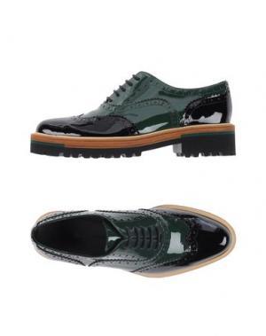 Обувь на шнурках STEPHANE KÉLIAN. Цвет: зеленый