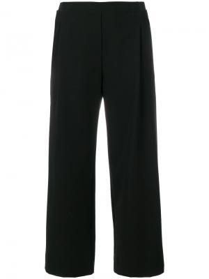 Укороченные строгие брюки DKNY. Цвет: чёрный