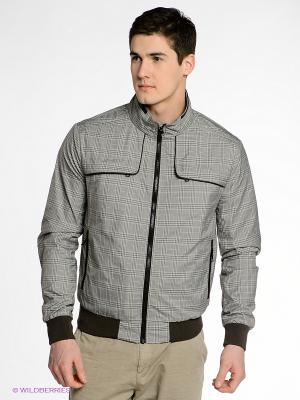 Куртка CONVER. Цвет: серый, коричневый