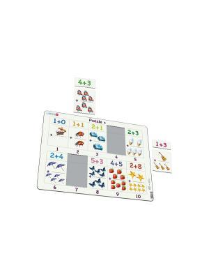 Пазл Сложение от 1 до 10 LARSEN AS. Цвет: белый, синий, зеленый, голубой, оранжевый, желтый