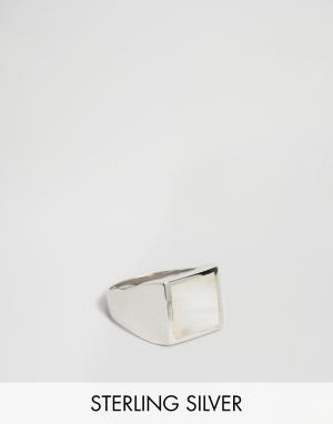 Seven London Серебряное кольцо-печатка эксклюзивно для ASOS. Цвет: серебряный