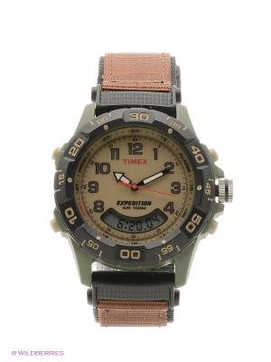 Часы TIMEX. Цвет: темно-коричневый