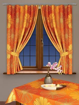 Комплект штор Haft. Цвет: оранжевый