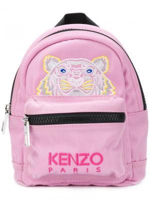 Мини-рюкзак с принтом тигра Kenzo. Цвет: розовый и фиолетовый