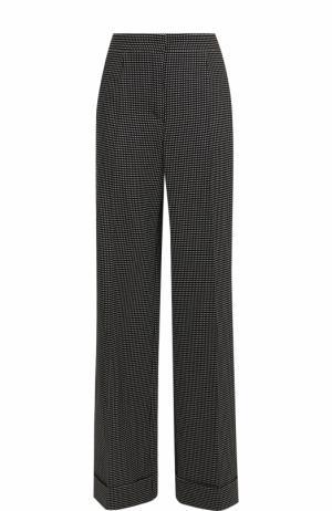 Расклешенные брюки со стрелками из смеси шерсти и хлопка Escada. Цвет: черно-белый