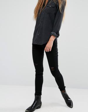 Rock & Religion Рваные джинсы скинни Neve. Цвет: черный