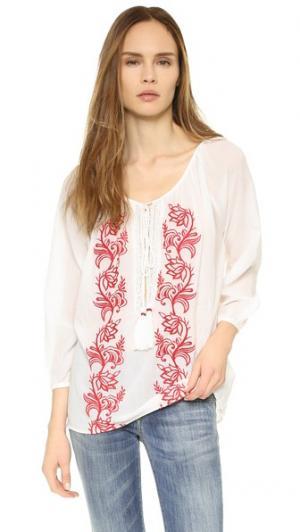 Блуза Graniers PAMPELONE. Цвет: белый/красный