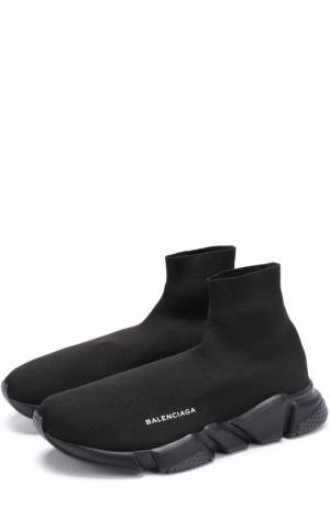 Текстильные кроссовки Speed Balenciaga. Цвет: черный