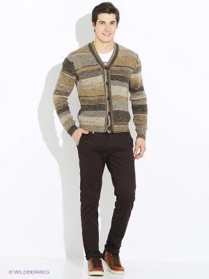 Кардиган JB casual. Цвет: коричневый