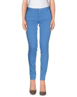 Повседневные брюки BONHEUR. Цвет: пастельно-синий