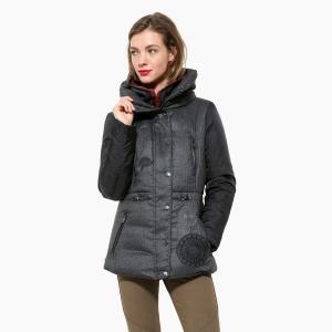 Пальто короткое с капюшоном DESIGUAL. Цвет: серый