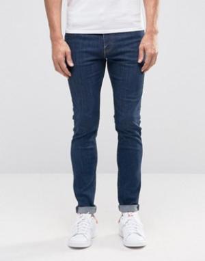 Weekday Супероблегающие джинсы Form Sun. Цвет: синий