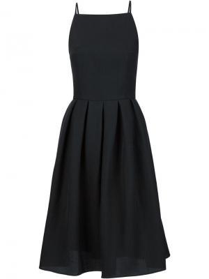 Расклешенное платье с открытой спиной Martin Grant. Цвет: чёрный