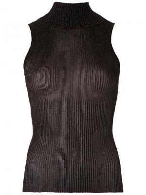Knitted turtle neck tank Gig. Цвет: чёрный