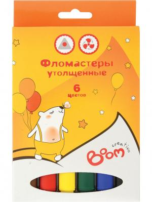 Фломастеры 06 цветов BOOM.. Цвет: оранжевый
