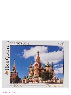 Пазл Москва, вид на Кремль и Собор Василия Блаженного Clementoni. Цвет: белый, синий, красный