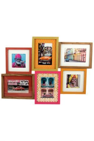Фоторамка-коллаж Куба Русские подарки. Цвет: оранжевый, коричневый, розовый