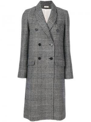 Твидовое пальто Masscob. Цвет: серый