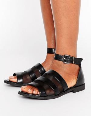 Raid Черные сандалии с сетчатыми вставками Beth. Цвет: черный