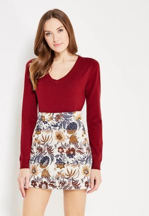 Пуловер Koralline. Цвет: бордовый