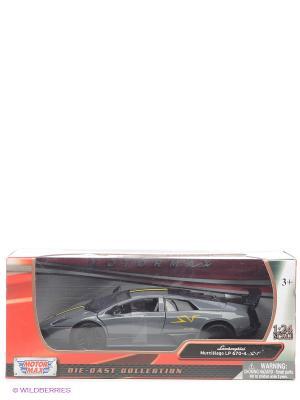Машинка коллекционная Laмborghini Murcielago LP6704 SV в масштабе 1к24 Motormax. Цвет: серый