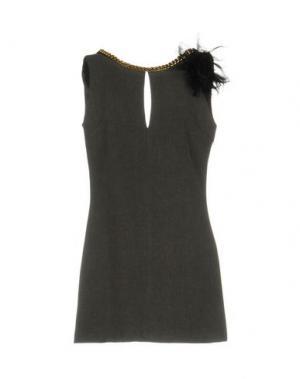 Короткое платье TENAX. Цвет: светло-серый