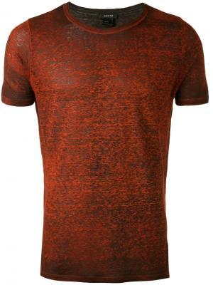 Side slit T-shirt Avant Toi. Цвет: красный