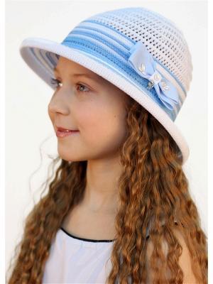 Шляпа Сиринга. Цвет: белый,голубой