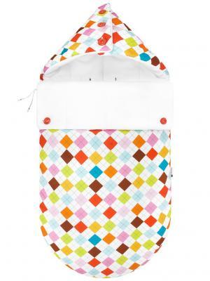 Конверт для новорождённого в автокресло Гольф (зима) MIKKIMAMA. Цвет: салатовый, коричневый, голубой, красный, оранжевый, розовый, белый