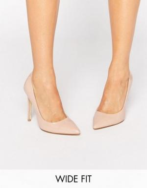 Faith Wide Fit Светло-бежевые туфли‑лодочки для широкой стопы Chloe. Цвет: бежевый
