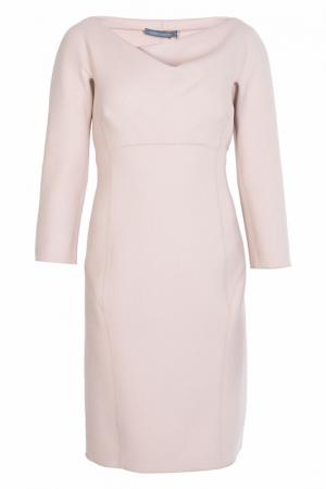 Платье Alberta Ferretti. Цвет: бежевый